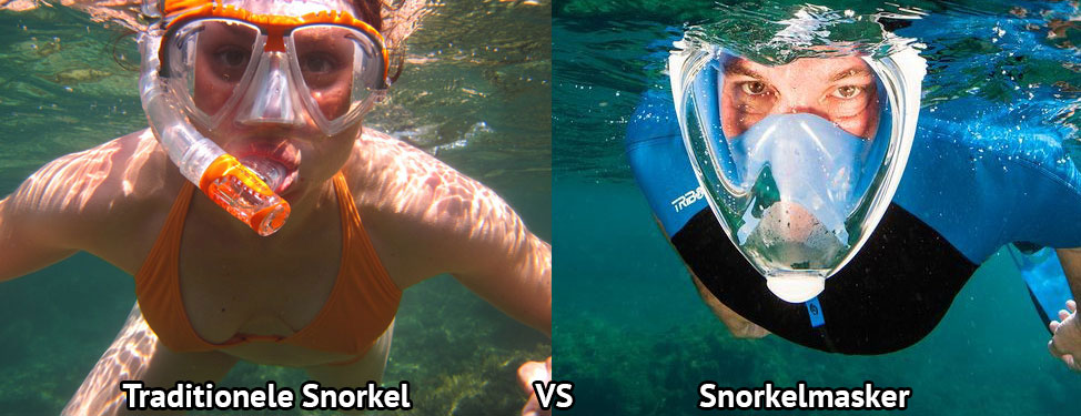 snorkelmasker vs traditionele snorkel